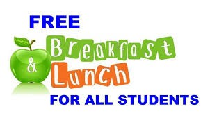 This year, all students are entitled to a free breakfast and lunch every day!   Yes- that's right ALL our students.