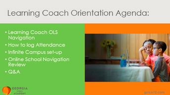 Learning Coach Orientation (Session #2)