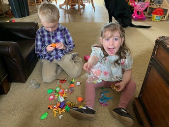 Looks like they loved the Easter Egg hunt!