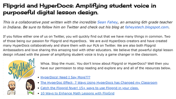 FlipGrid and Hyperdocs! Oh Yea.