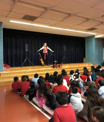 Storyteller Sue Young at Youens Elementary