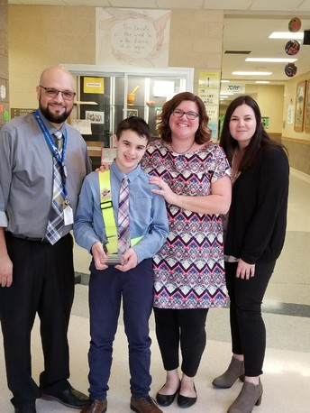 CES Fourth Grader Earns AAA School Safety Patrol Award