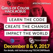 AT&T and TECH CORPS present Girls of Color Hack #Cbus – Register Today!