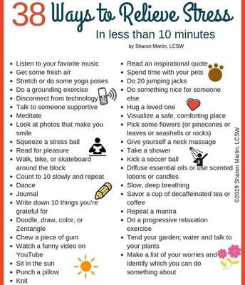 38 Ways to Relieve Stress