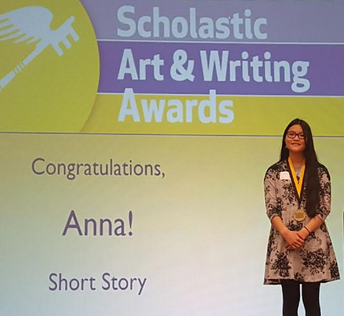 Anna Nikkel wins a short story writing award from Scholastic Arts and Writing.