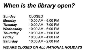 Visit our Local Library!