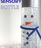 Snowman sensory bottle