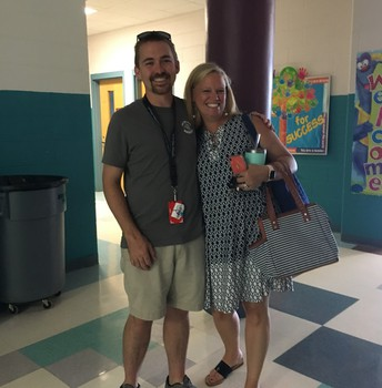 Mr. Cole and Mrs. Martin - great members of our EC Team!