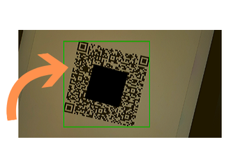 5. Point YOUR personal device's camera at the QR Code on your STUDENT's iPad