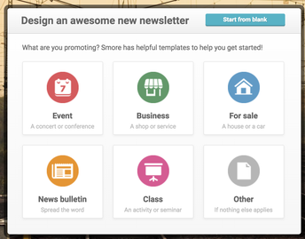 2. Select Newsletter template