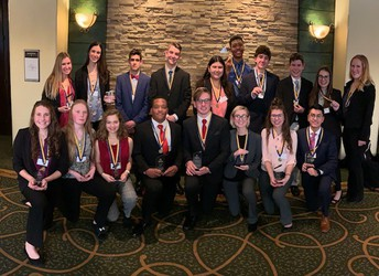 Kingsway DECA Team Nets 18 Spots to the State Competition