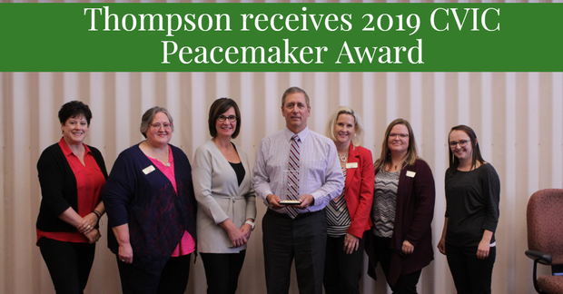 Jody Thompson receives 2019 CVIC Peacemaker Award