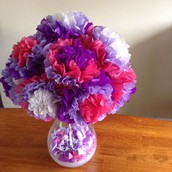 Creating Tissue paper Flowers