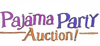 sign reading Pajama Party Auction