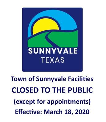 Town facility closures