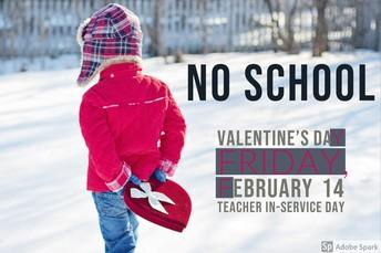 No School Friday, February 14