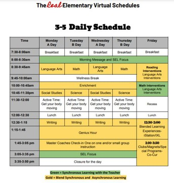 3-5 Daily Schedule