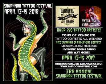***NEW: SAVANNAH TATTOO FESTIVAL 13-15 APRIL