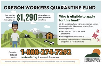 Oregon Agriculture Workers Quarantine Fund