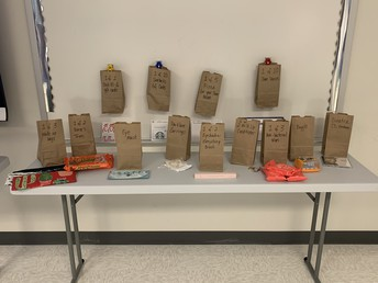 One small section of prizes awarded to the staff at BBIS.