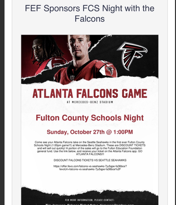 Fulton County Night @ The Mercedes Benz Stadium