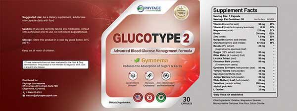 Gluco Type 2 Ingredient List