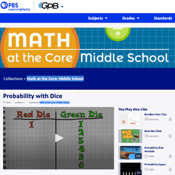PBS Learning: Probability with Dice