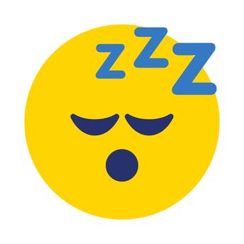 Tired emoji yawning.