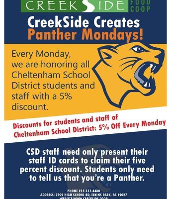 Panther Mondays @ CreekSide Coop