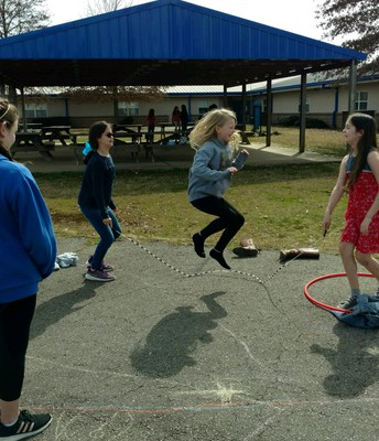 Thank you PTO for our new playground equipment!