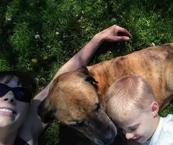 Mrs. Alongi & Her Dog!