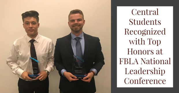 Central Students Recognized with Top Honors at FBLA National Leadership Conference