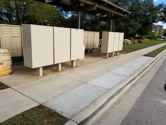 New Concrete for Mailbox Kiosk