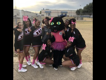 Byrd Cheerleaders and Mascot