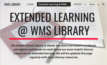 Visit the WMS Library Website for Digital Reading Resources & Tutorials