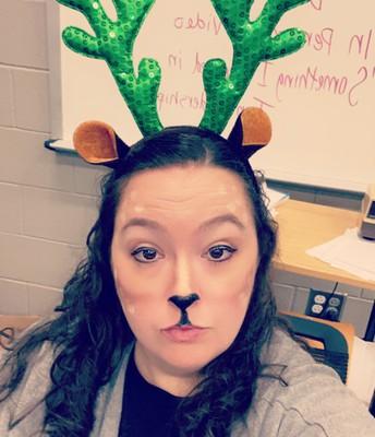 Mrs. Carlton is a gorgeous reindeer!