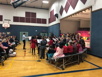 Mr. Schroeder and the 5th Grade Band - First Public Performance