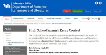 UB's High School Spanish Essay Contest