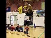NYO student 2 foot kick. WOW look how high he goes!