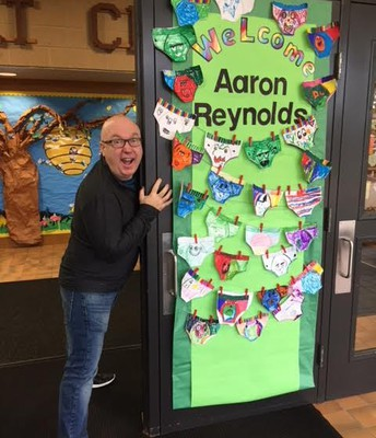 What a great author visit! Aaron Reynolds made everyone laugh!
