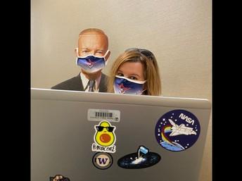President Eisenhower and I doing some online learning.