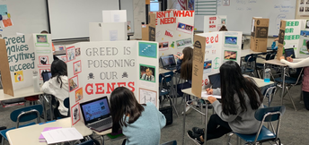 8th Grade Social Studies 'Greed' Projects