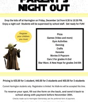 Tomorrow: Parents Night Out