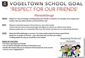 SCHOOL GOAL: RESPECT FOR OUR FRIENDS