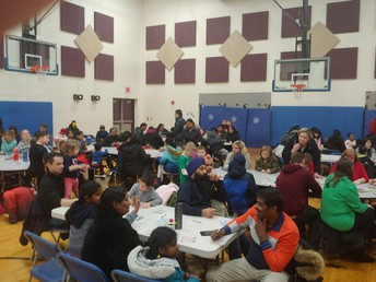 Parents and students at BINGO