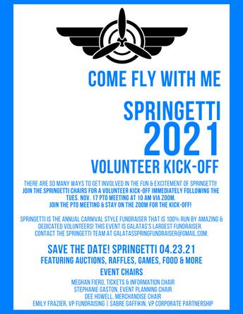 Springetti Funraiser Volunteer Kick-off!
