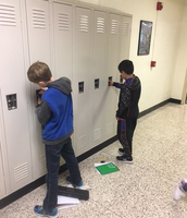 Sixth Graders mastering those lockers