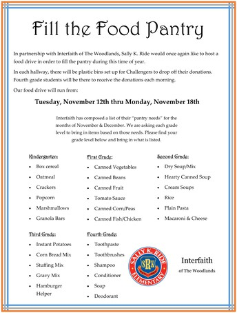 Fill the Food Pantry Starts This Tuesday