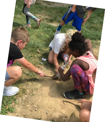 Our students love to dig and explore!