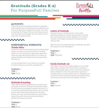 Gratitude (Grades K-2) English